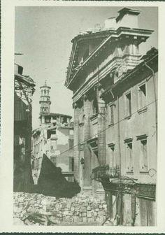 Cartoline de Verona vecia - le rovine della Chiesa di S.Sebastiano in via Cappello. 1945
