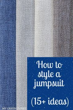"Jumpsuits are so versatile - they can be a great addition to a capsule wardrobe. But do you find yourself styling your jumpsuit the same way each time? This video shows 15  ways which answer the question: ""how do I style a jumpsuit?"" so you can get the most out of this signature piece! Click on the link to watch now! #howtostyleajumpsuit #capsulewardrobe Ethical Clothing, Ethical Fashion, Sustainable Clothing, Sustainable Fashion, Beautiful Clothes, Beautiful Outfits, Slow Fashion, Affordable Fashion, Wardrobes"