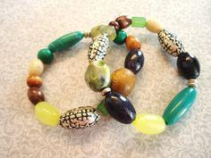 Boho Bracelet Set. $9.00, via Etsy.