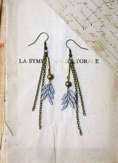 lace earrings -AMERLA- by White Owl