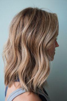 Blonde Balayage Honey, Balayage Straight Hair, Balayage Lob, Bronde Hair, Dark Blonde Hair, Light Brown Hair, Light Hair, Neutral Blonde, Lob Haircut