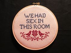 We Had Sex CrossStitch by LeaveYouInStitches on Etsy