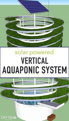 """Solar powered vertical aquaponic system concept - built in a spiral to maximize space and efficiency """"Break-Through Organic Gardening Secret Grows You Up To 10 Times The Plants, In Half The Time, With Healthier Plants, While the Fish Do All the Work. Aquaponics System, Aquaponics Greenhouse, Backyard Aquaponics, Aquaponics Fish, Fish Farming, Diy Greenhouse, Hydroponic Gardening, Solar System, Vegetable Gardening"""