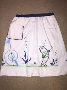 THE VESTED GENTRESS Golf Skirt hand screened print Preppy Mod #VestedGentress