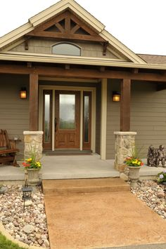 House exterior siding colors landscaping for 2019 House Paint Exterior, Exterior House Colors, Exterior Design, Modern Exterior, Stone On House Exterior, Exterior Paint Colors For House With Stone, Exterior Paint Ideas, Beige House Exterior, Craftsman Exterior Colors