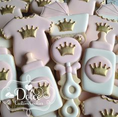 Little Princess Royal Crown Gold or Silver by DolceCustomCookies