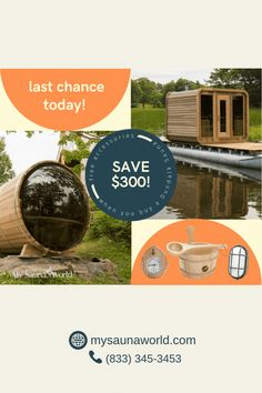 Today is the last day to claim your free Elite Sauna Accessories Package (value of $300+). Hurry, this promotion ENDS at 11:59 pm EST! Don't miss this chance to get your dream sauna NOW. #DundalkLeisurecraftSauna #OutdoorSauna #MySaunaWorld Indoor Sauna, Indoor Outdoor, Sauna Lights, Wood Burning Heaters, Sauna Accessories, Barrel Sauna, Sauna Heater, Traditional Saunas, Real Fire