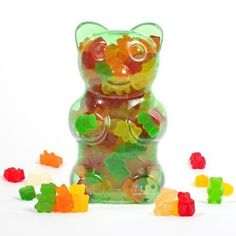 Dylan's Candy Bar Filled Gummy Bear Container - Green : Signature Mixes DylansCandyBar.com