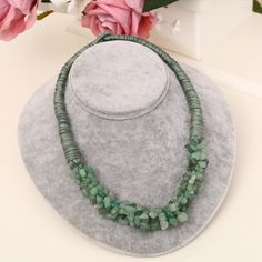 Solid Color DIY Summer Style Beach Rope Chain Natural Stone Choker Necklace Statement Women Gifts - XL804