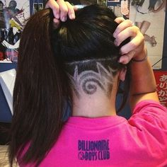 Shaved hair design...if only I had the guts