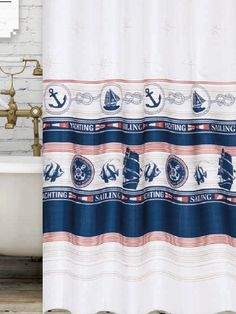 Marina zuhanyfüggöny Curtains, Shower, Bathroom, Modern, Prints, Rain Shower Heads, Washroom, Blinds, Trendy Tree