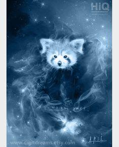 P169: Red Panda Firefox Patronus by DigitDreams on Etsy