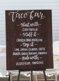 Avery's ONEderful Garden Party - Custom Wood sign for Taco Bar