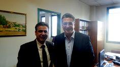 Συνάντηση Απόστολου Τζιτζικώστα με τον Αντιπεριφερειάρχη Χίου, κ. Στ. Κάρμαντζη