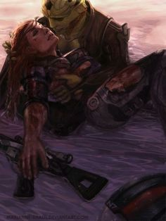 Mass Effect - Thane cradles his Siha...my heart too many feels.
