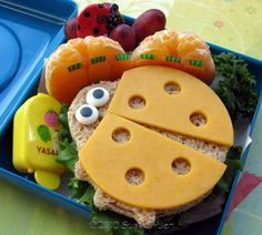 Lady Bug themed lunch.