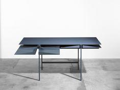 Folia Desk is a minimal desk designed by New York City-based designer, Leon Ransmeier.