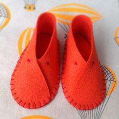 DIY Baby Felt Shoes