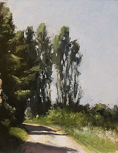 daily painting titled White road - click for enlargement