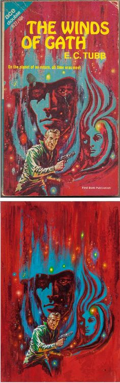 FRANK KELLY FREAS - The Winds of Gath - E.C. Tubb - 1967 Ace Double H-27 - cover by scan - print by ha.com