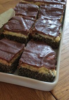 Mohnkuchen mit Vanillecreme und Schoko 6