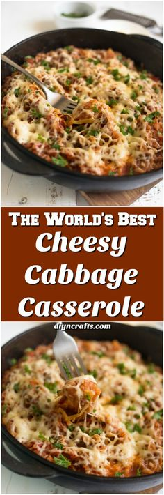 The World's Best Cheesy Cabbage Casserole Recipe - Perfect and healthy main everyday dish! Easy and quick recipe that will leave you drooling... via @vanessacrafting