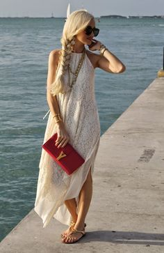 Dress: Free People also love this and this , Shoes: Tory Burch craving these and these , Clutch: YSL love this...