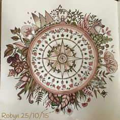 Compass | coloured by Robyn | Johanna Basford