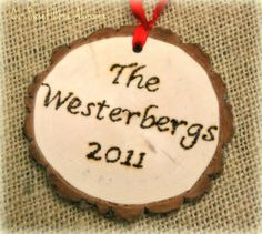DIY Personalized Christmas Tree Ornament - Part of the Christmas Tree! Our First Christmas Tree.