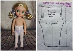 Выкройка колготок и гольф для куклы Дисней Аниматорс / Выкройки одежды для кукол-детей, мастер классы / Бэйбики. Куклы фото. Одежда для кукол