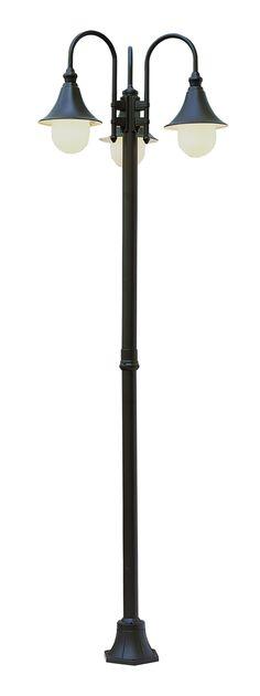 Victorian 2 head solar black outdoor lamp post outdoor lamp trans globe lighting 4776 santa isabel 86 inch 3 lantern outdoor lamp post shown aloadofball Choice Image