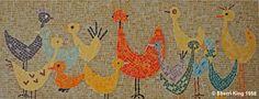 Chickens mosaic by Sherri King Mosaic Artist
