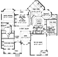 Houseplans.com European Main Floor Plan Plan #54-142