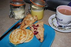 How To Be A Downton Abbey LadyNerd: How To Make a Cream Tea | Forever Young Adult clotted cream, lemon curd, crumpets and scones