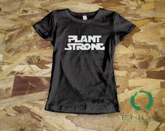 PLANT STRONG Vegan Tshirt Plant Based Inspired Design - Women's Jersey Short Sleeve T-Shirt by ENDUdesigns