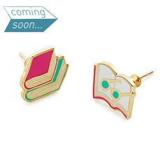 These mismatched earrings are a playful way for bibliophiles to show their literary love.