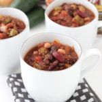 Three different beans and quinoa make this a satisfying alternative to a typically meat heavy dish; it will turn a meat-lover into a vegetarian wanna be.