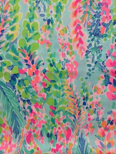 "Lilly Pulitzer Dobby Cotton Fabric Dragonfruit Pink Toucan Can 1yd 36/"" X 57/"""