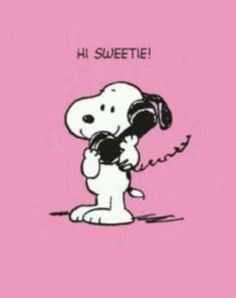 Snoopy - Hi Sweetie - Happy Valentine's Day!