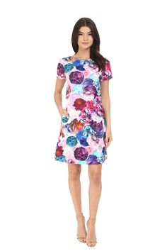 Floral Spring Dresses For Every Budget: Vibrant Sleeved Shift.