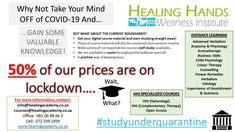 #StudyUnderQuarantine  Why not focus on something positive...! 50% of our prices are on lock-down!!! www.healingacademy.co.za