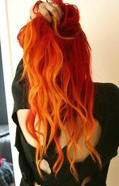 Orange hairslight ombre :) ♥ I bet you wish you had hair like this - Enjoy with love from http://www.shop.embiotechsolutions.co.uk/AquaFresh-EM-Ceramics-Water-Butt-Treatment-250g-AquaFresh250.htm