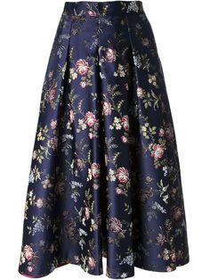 Erika Cavallini Semi Couture Floral Jacquard Full Skirt - Gallery Madrid - Farfetch.com