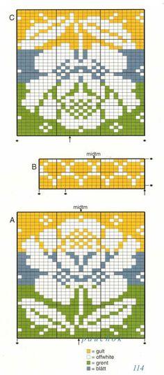 Billedresultat for solveig hisdal knitting patterns Intarsia Patterns, Fair Isle Knitting Patterns, Fair Isle Pattern, Knitting Charts, Knitting Stitches, Hand Knitting, Stitch Patterns, Knit Or Crochet, Filet Crochet