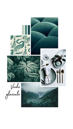 Moodboard of the day: glacial green Website Design, Web Design, Logo Design, Pantone Cards, Menue Design, Plakat Design, Collage Background, Photo Images, Concept Board