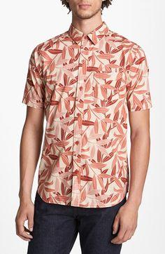 Kane & Unke 'Coral Floral' Print Woven Shirt   Nordstrom