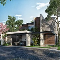 Visualization by Architect by . We provide visualization services, please… Villa Design, Facade Design, Modern House Design, Exterior Design, Modern House Facades, Contemporary Design, Design Design, House Architecture Styles, Facade Architecture