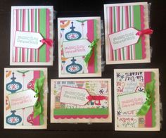 A personal favorite from my Etsy shop https://www.etsy.com/listing/244444908/cute-christmas-handmade-cards-pink-green