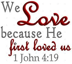 Bible Verse 1 John 419 Embroidery Machine Design by CraftyJacky, $1.99