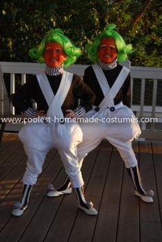 creative oompa loompa couple costume - Oompa Loompa Halloween